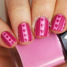 So Pretty Nail Designs for Romantic Look - Fashion Nail Art Saint-valentin, Jolie Nail Art, Heart Nail Art, Heart Nails, Nail Arts, Pretty Nail Designs, Pink Nail Designs, Simple Nail Art Designs, Pretty Nail Art