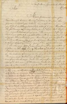 Caleb Brewster handwritten petition for recompense for veterans pay