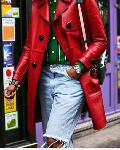 Leather Jacket, Street Style, Elegant, Stylish, Casual, Jackets, Anastasia, Street Fashion, Colorful