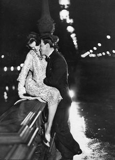 Carmen (in Yves Saint Laurent for  Dior) and Robin Tattersall on the Pont Alexandre III, photo by Avedon, Paris, August 1957 | by skorver1