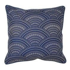 Scallop Scatter Cushion Navy 60 X 60cm | Volpes