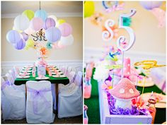 A Fantasy Spa Birthday Party for little girls who wants 2 be spoiled. Love the soft colors and the little fantasy decorations!