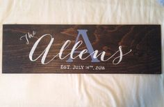Announcing the...Wooden Wedding Signs by CaitAndMelMakeThings