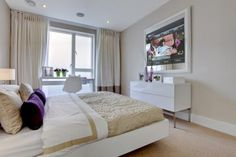 "Stunning 47"" LED Mirror TV with a beautiful high gloss white frame."