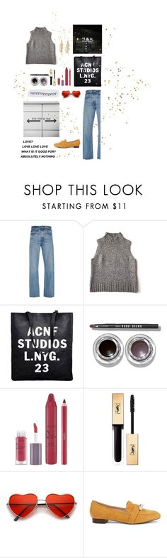 """Runaway"" by sjuin ❤ liked on Polyvore featuring Brock Collection, Bobbi Brown Cosmetics, tarte, Yves Saint Laurent, Sole Society and Chan Luu"