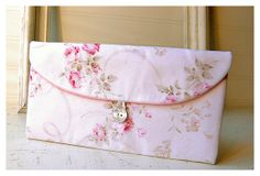 Bridesmaids Clutch purse pink rose Mary Rose Bridal by hoganfe,