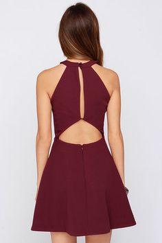Keepsake Adore You - Burgundy Dress - Cocktail Dress - $169.00