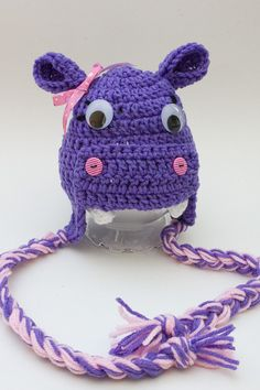 Crochet Animal Hats Hippo Hat Newborn Photo Props Crochet Hippo Hat Baby Shower Gifts Birthday Gifts Animal Beanies Handmade…