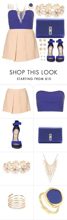 """""""Pink & Violet """" by marianandrwos ❤ liked on Polyvore featuring Witchery, Topshop, Steve Madden, Proenza Schouler, Wet Seal, Elizabeth Cole, STONE, Monica Vinader and Forever 21"""