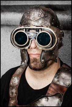 Steampunk helmet via Etsy