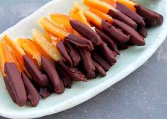 Scorzette candite ricoperte di cioccolato