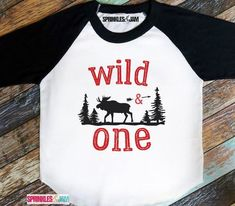 Birthday Shirts, Funny T-Shirts, Funny Tees, Funny Onesies - Sprinkles And Jam Happy First Birthday, Baby Boy Birthday, Birthday Fun, Birthday Ideas, T Shirts With Sayings, Shirts For Girls, Family Birthday Shirts, 1st Birthdays, Wild Ones