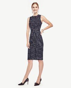 Refined Tweed Sheath Dress   Ann Taylor