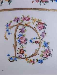 The monogram used on several items made for Madame du Barry by the Sevres Manufactory