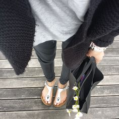 Image result for silver birkenstocks outfit