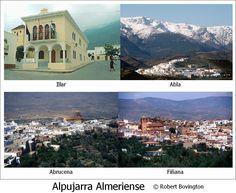 Alpujarra Almeriense - some of the places I have visited (2004-2015) mural © Robert Bovington