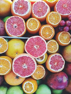 fruits, color, grapefruits, photography, food,