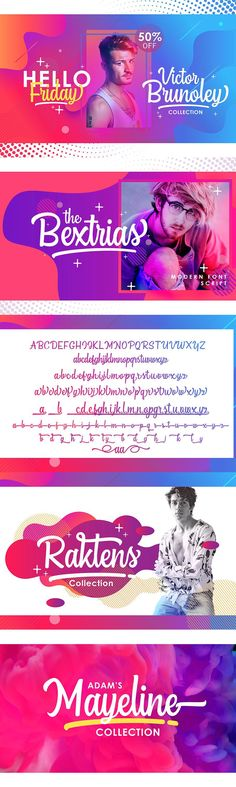 The Bextrias Font Script is a unique, cool and modern handwritten font. It's hand look style makes it perfect for use in all your design projects be it logos, Labels, Packaging design, Blog headlines, Poster, Instagram Design, etc - WHAT YOU GET ( Opentype .otf and Truetype .ttf ) : - The Bextrias Script. TTF - The Bextrias Script .OTF - How to access alternate glyphs? - Don't forget to visit our other products : -Dhanikans Signature ( Duo Style)... Signature Fonts, Instagram Design, Script Fonts, Glyphs, Look Fashion, Design Projects, Packaging Design, Don't Forget, Logos