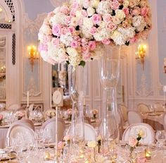 Blush Pink table decor