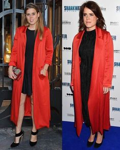Princess Beatrice of York dazzled in red coat which her sister Princess Eugenie wore it last year . She looked… Princess Beatrice, Princess Eugenie, Duchess Of York, Duke And Duchess, Amazing Dresses, Nice Dresses, Red Coats, Eugenie Of York, Royal Dresses