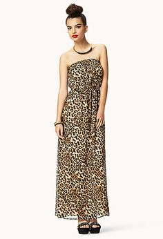 Untamed Leopard Chiffon Maxi Dress | FOREVER21 - 2042799764  #ForeverHoliday