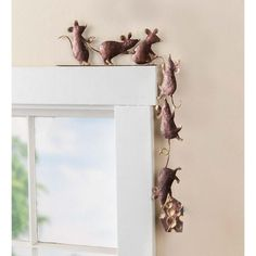 Buy Wind & Weather Metal Mice Door Crawler x x Patio Side Table, Metal Wall Decor, Outdoor Walls, Indoor Outdoor, Outdoor Living, Wall Spaces, My New Room, Metal Walls, Hearth