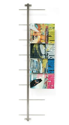 magazine rack - perfect for kitchen.  now just for some quick diy