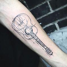 Resultado de imagen para guitar tattoo geometric