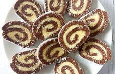 kaprazatos-kokusztekercs-annyira-finom-hogy-nem-lehet-betelni-vele Brownies, Mary Berry, No Bake Desserts, I Foods, Sweet Treats, Berries, Muffin, Food And Drink, Gem