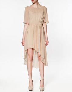 V-BACK DRESS - Dresses - Woman - ZARA Costa Rica
