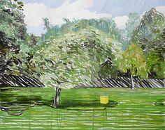 """Mykolé, """"Beehive"""", 2013, 145 x 180 cm  Oil, canvas. Contemporary landscape paintings."""