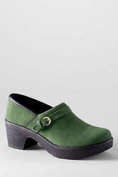 Women's Camden Clog Shoes from Lands' End - Light Clover