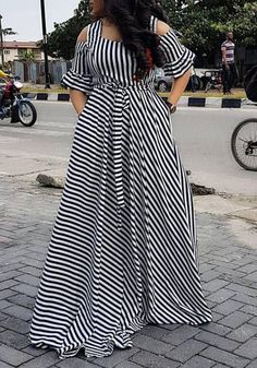 Black Striped Zebra Print Embroidery Ruffle High Waisted Mexican Elegant Party Maxi Dress African Dresses For Kids, Latest African Fashion Dresses, African Dresses For Women, African Print Dresses, African Attire, Moda Xl, Looks Plus Size, Classy Dress, Zebra Print