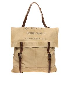 Canvas Tote with Double Straps / Denim & Supply By Ralph Lauren