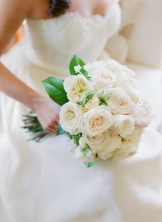 Cinderella's white rose bouquet: http://www.stylemepretty.com/2016/07/07/disney-princess-fairytale-wedding/