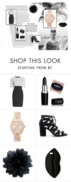 """Elegant black combination"" by jenkey-cool-fashion ❤ liked on Polyvore featuring Rumour London, Michael Kors, Sole Society and STELLA McCARTNEY"