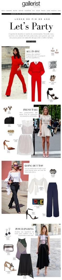 newsletter, fashion, gallerist, layout, look de festa, get the look