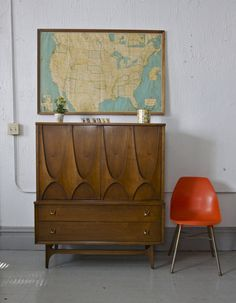 Broyhill Brasillia line Chest - I have the dining room table and hutch. Would love this.  Midcentury modern beauty!