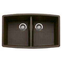 Shop BLANCO Double-Basin Undermount Composite Kitchen Sink at Lowes.com