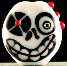 Laurie Geller Handmade Lampwork Bead ~SKULLIE~ SRA* | eBay
