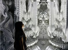 """Two ETH researchers from the Institute for Technology in Architecture have created an immersive space titled """"Digital Grotesque"""". Made from artificial sandstone with a 3D printer. """"Anyone printing architectural elements does not want to merely copy an existing idea; with these delicate structures, we show that the scope for designing a digitally developed wall is almost limitless,"""""""