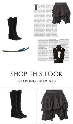 """""""we didin't choose it"""" by semmaos ❤ liked on Polyvore featuring Yves Saint Laurent, AllSaints and Dion Lee"""