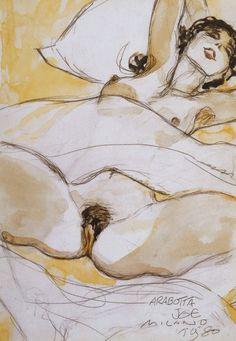 hugo pratt aquarelles Body Drawing, Life Drawing, Figure Drawing, Hugo Pratt, Maltese, Exotic Art, Girl Sketch, Art Studies, Gravure