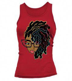 e7ec9d67e Afro hair T-shirt for Black women . Black woman with natural hair afro