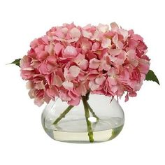 You'll love these gorgeous finds! These are my favorite glam spring decor items. | Simple Modern and Glamorous Spring Decor on a budget! Hydrangea Vase, Hydrangea Arrangements, Flower Arrangements Simple, Hydrangea Not Blooming, Exotic Flowers, Faux Flowers, Silk Flowers, Beautiful Flowers, Fresh Flowers
