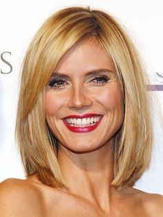 Ob Dip Dye, Sleek Look oder Long Bob - Heidi Klum probiert alle Frisuren aus. Der Long Bob mit seitlicher Pony-Partie steht ihr ausgesprochen gut und macht