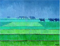 Title: Phowar in Summers  Available  Contact :: rasuls_studio542@hotmail.com  #GhulamRasul #LandscapeArtist #Landscape