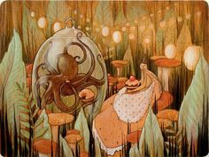"""""""Let's Eat Cake"""" by Brandi Milne. Nice coloring - almost looks faux bois."""