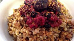 Morning Blend Grain Medley with Hot Berry Syrup | The Engine 2 Diet