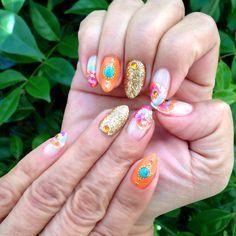#Summer #nails #gelnail #nailart